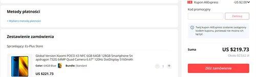 Promocyjna cena Xiaomi POCO X3 NFC na AliExpress