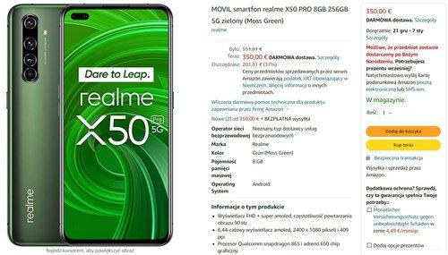 Promocyjna cena Realme X50 Pro na Amazon.de
