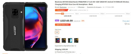 BlackView BV5100 to fajny smartfon z dużą baterią