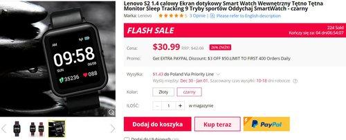 Lenovo S2 w promocji to świetna alternatywa dla tanich smartwatchy Xiaomi