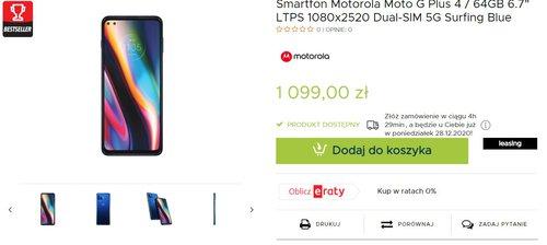 Motorola Moto G 5G Plus doczekała się dobrej promocji