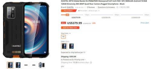 Oukitel WP10 to świetny odporny smartfon za dobre pieniądze