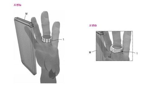 pierścień patent Samsung/ fot. phonearena