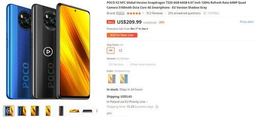 POCO X3 NFC może być Twój już za 770 złotych