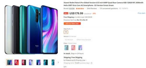 Redmi Note 8 Pro za 660 złotych to wybtina promocja