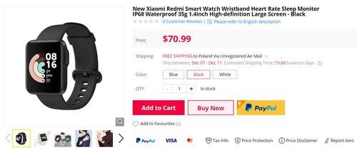 Kapitalny Redmi Watch może być Twój już za 220 złotych/fot. Gearbest