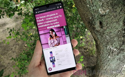 LG Velvet 5G / fot. gsmManiaK