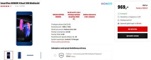 Honor 9 w promocji MediaMarkt