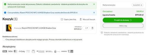 Promocyjna cena Xiaomi POCO X3 NFC w x-kom