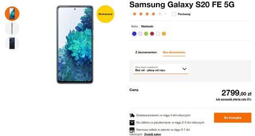 Promocyjna cena Galaxy S20 FE 5G to jeszcze nie wszystko