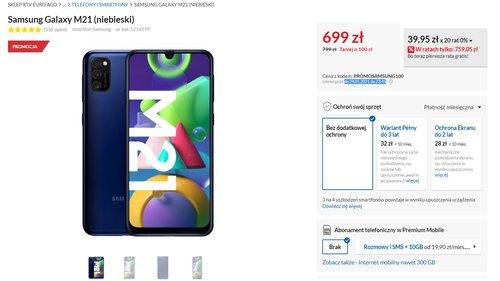 Promocyjna cena Samsung Galaxy S21 w RTV Euro AGD