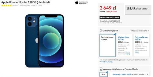 Apple iPhone 12 mini w promocji RTV Euro AGD