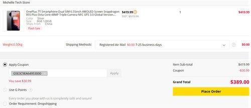 OnePlus 7T w promocji GearBest