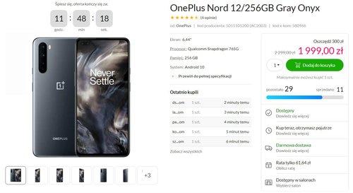 Promocyjna cena OnePlus Nord w x-kom