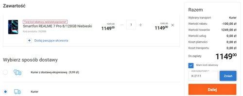 Promocyjna cena realme 7 Pro w sklepie Electro