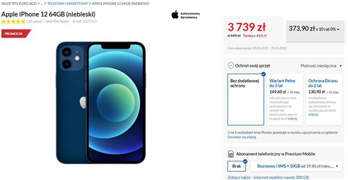 iPhone 12 w promocji RTV Euro AGD