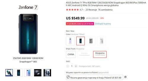 ASUS Zenfone 7 pojawił się w kapitalnej promocji
