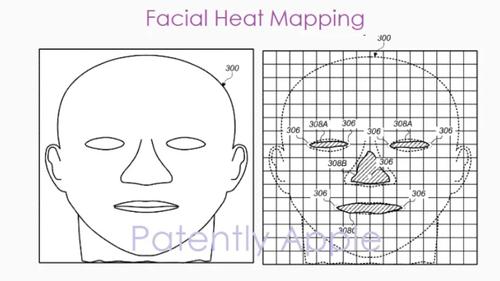 FaceID w przyszłości ma być oparte o mapę ciepła/fot. PatentlyApple