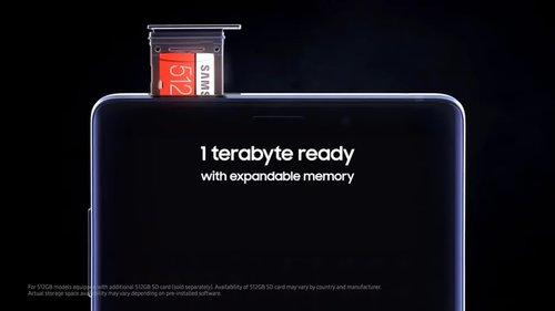 Samsung Galaxy Note 9 z 1 TB pamięci (wewnętrzna + microSD) / fot. producenta