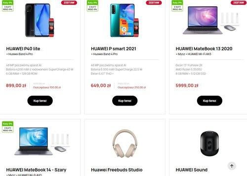 Fajne promocje w sklepie Huawei