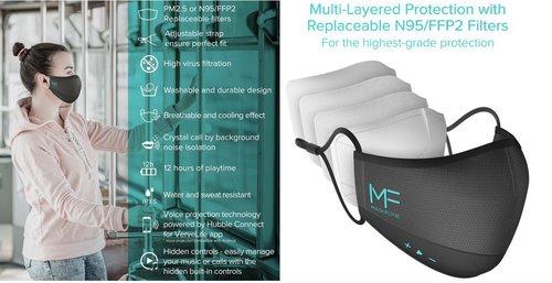 MaskFone: maseczka ze słuchawkami i mikrofonem / fot. MaskFone
