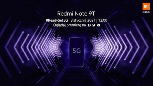 Premiera Redmi Note 9T zapowiedziana