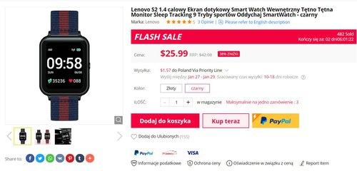 Lenovo S2 to fajna alternatywa dla tanich smartwatchy Xiaomi