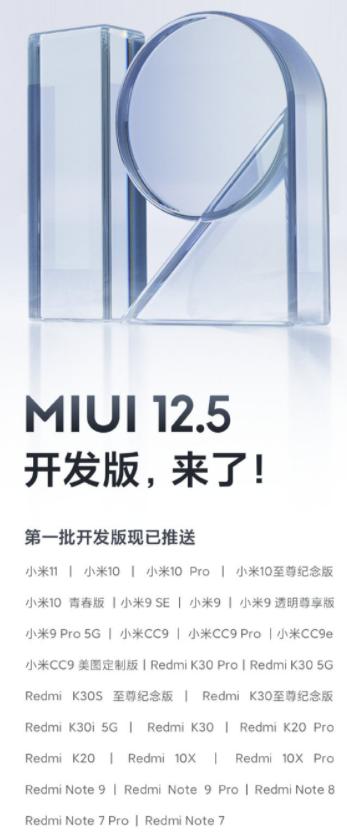 Xiaomi opublikowało listę modeli z aktualizacją do MIUI 12.5/fot. Xiaomi