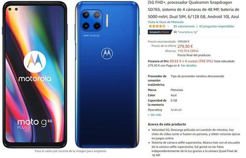 Motorola Moto G 5G Plus za 1300 złotych/fot. Amazon