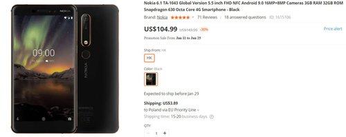Nokia 6.1 za 395 złotych to świetny pomysł na smartfon dla dziecka lub seniora