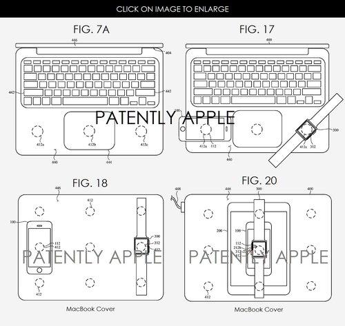 Patent Apple ładowanie MacBookiem/ fot. Patently Apple
