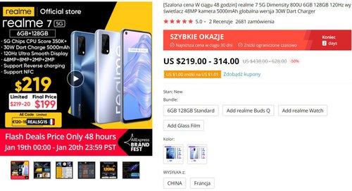 Realme 7 5G może być Twój już za 730 złotych