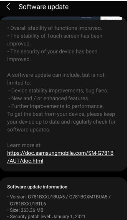 Nowa aktualizacja Samsunga Galaxy S20 FE ma rozwiązać problemy z ekranem/fot. PhoneArena