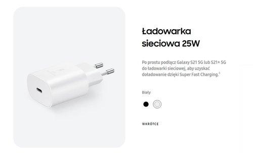 Ładowarka sieciowa 25 W Samsung/ fot. producenta