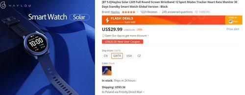 Xiaomi Solar w dobrej promocji to najlepszy smartwatch w tej cenie