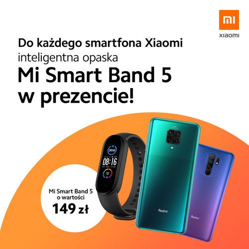 Promocja: kup Xiaomi i zgarnij opaskę Mi Band 5 za darmo!
