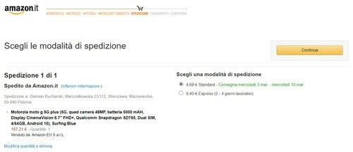 Motorola Moto G 5G Plus (4/64 GB) w promocji Amazonu