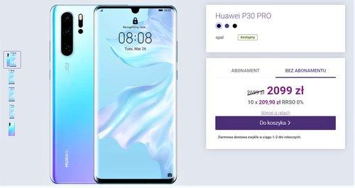 Cena Huawei P30 Pro w sklepie Play bez umowy