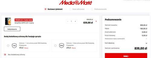 Promocyjna cena OPPO A91 w sklepie MediaMarkt