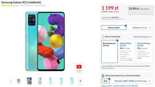 Promocyjna cena Galaxy A51 w RTV Euro AGD