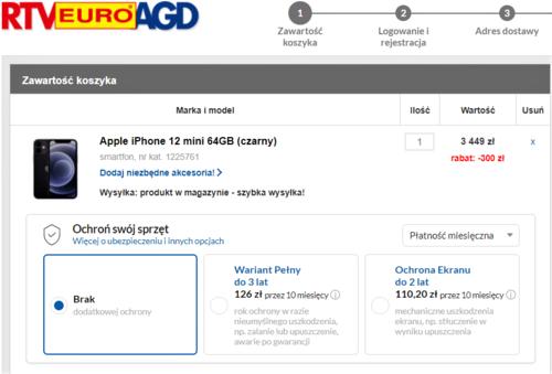 iPhone 12 mini w promocji RTV Euro AGD