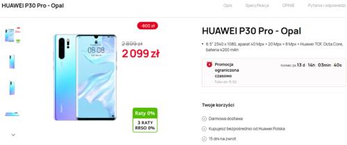Promocyjna cena Huawei P30 Pro