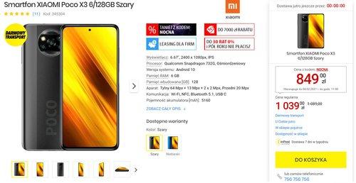 Promocyjna cena Xiaomi POCO X3 NFC w Media Expert