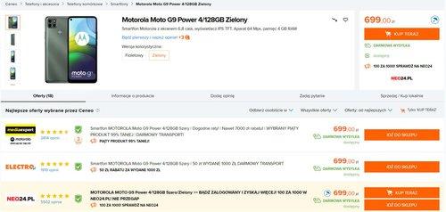 Promocyjna cena Moto G9 Power