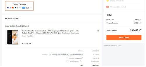 Promocyjna cena OnePlus 8 Pro w sklepie Banggood
