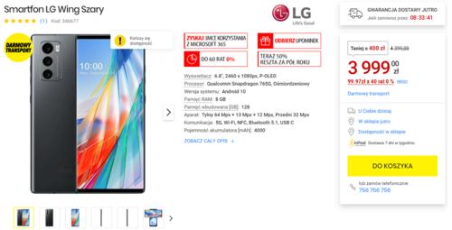 Promocyjna cena LG Wing w sklepie Media Expert