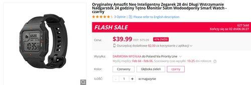 Amazfit Neo to fajny retro-smartwatch w niskiej cenie
