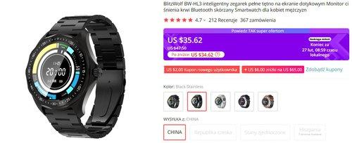 BlitzWolf wygląda jak kultowy G-Shock, a oferuje pełen przegląd funkcji smart
