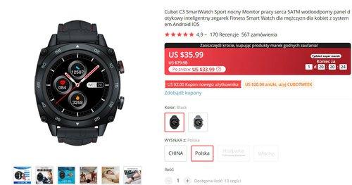 Cuobt C3 to ciekawa alternatywa dla tanich zegarków Xiaomi