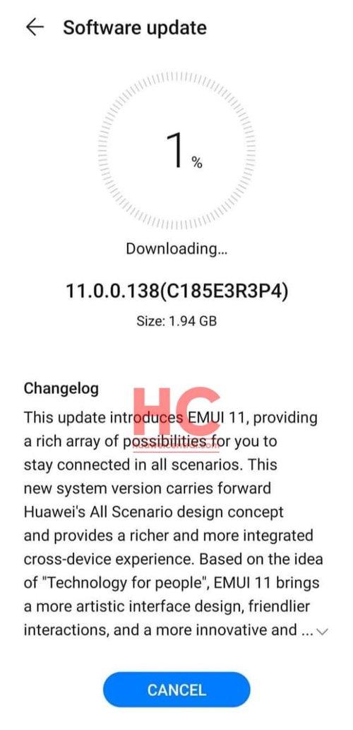 EMUI 11 dla Huawei Nova 5T / fot. Huawei Central